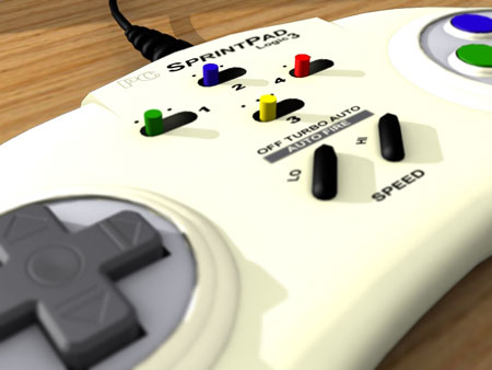 3D render of an old PC Joypad