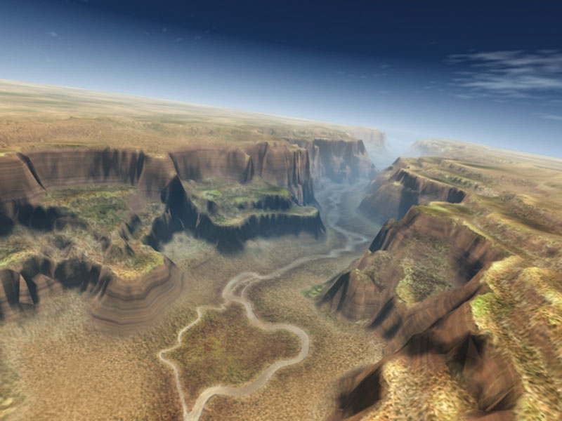 3d canyon landscape richard clark design portfolio for Garden design in 3ds max